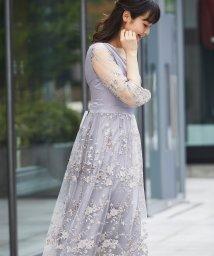 SMILE ORCHID/花柄刺繍ワンピースパーティードレス/502688360