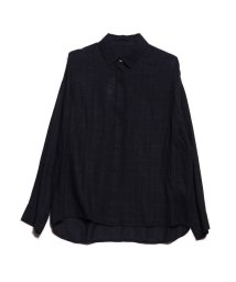 Rename/リネーム Rename 隠しボタンチェックシャツ (ネイビー)/502694161