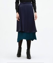 LOVELESS WOMEN/リバーシブル サテン プリーツ スカート/502507172