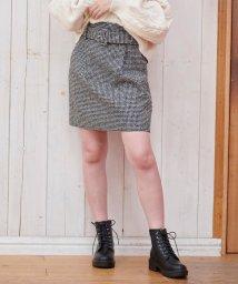 MAJESTIC LEGON/太ベルト付ツィードスカート/502517411