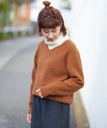 NICE CLAUP OUTLET/【pual ce cin】ワッフルVネックプルオーバー/502668590