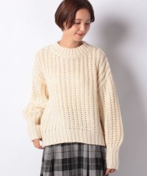 NICE CLAUP OUTLET/【every very nice claup】棒針ボリューム袖プルオーバー/502673035
