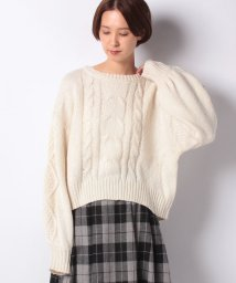 NICE CLAUP OUTLET/【every very nice claup】ざっくりケーブルニットプルオーバー/502673036