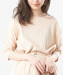 NICE CLAUP OUTLET/【natural couture】細ベルト付きロングボートネックT/502673039