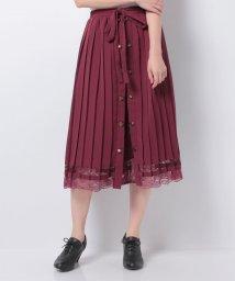 axes femme/フロント釦プリーツスカート/502676743