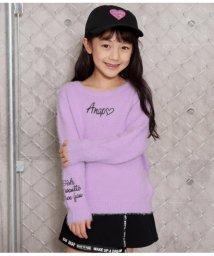 ANAP KIDS/ネコシャギー刺繍ニットトップス/502690387