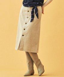 MACPHEE/ワイドウェールコーデュロイ フロントボタンタイトスカート/502694435