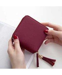 STYLEBLOCK/スタイルブロック STYLEBLOCK タッセル付き二つ折りミニ財布 (ワインレッド)/502697333