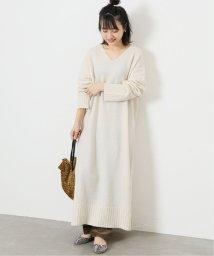 JOURNAL STANDARD/カシミヤコンVネックワンピース/502697649