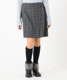 KUMIKYOKU KIDS/【150-160cm】ウールチェック キュロット/502697732