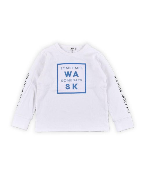 WASK(ワスク)/ロゴ星プリント接結Tシャツ(110cm~130cm)/1355170355