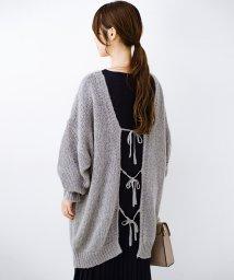 haco!/ゆるゆるゆる編みで軽やかにかわいくなれる 前後ろ2WAYカーディガン/502679548