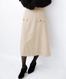 haco!/オフィスにもデートにもぴったりなきれいシルエットのAラインスカート/502679552