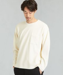 green label relaxing/SC ガーターベロア クルー LS ポケット カットソー/502679600
