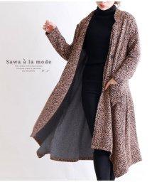 Sawa a la mode/総花柄スタンドカラーアシンメトリーコート/502697087