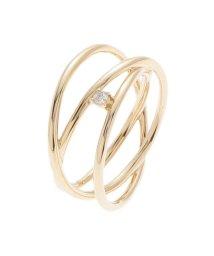 COCOSHNIK /ダイヤモンド ワンストローク らせんリング/502701172
