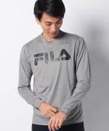 FILA/【FILA】ドットメッシュ ロングTシャツ/502677440