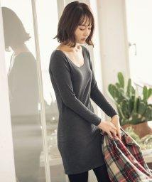 KOBE LETTUCE/【&HEAT】ワンピース丈(Uネック) [H519]/502684963