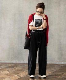 KOBE LETTUCE/【田中亜希子さんコラボ】裏起毛センタープレススウェットワイドパンツ [M2559]/502684970