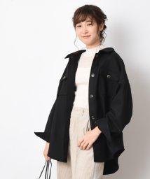 INTERPLANET/【WEB限定】フェイクウールメルトンゆるシャツジャケット/502692944