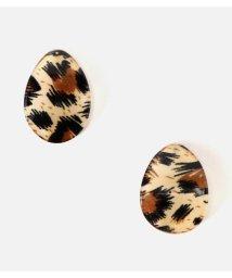 AZUL by moussy/LEOPARD ACRYLIC EARRING/502701523