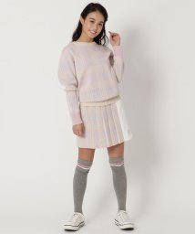 Samantha Thavasa UNDER25&NO.7/ニットチェックプリーツスカート/502701557