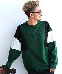 LUXSTYLE/カラー切替トレーナー/トレーナー メンズ スウェット ビッグシルエット 切替 配色 長袖/502701866