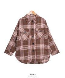 GROWINGRICH/[トップス]チェック柄ビッグCPOシャツ[190685]まるで彼のシャツを借りたような愛おしさ/502702526