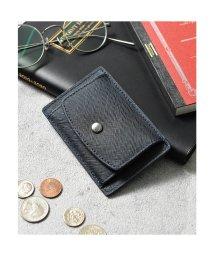Add+/アッド Add+ 本革サフィアーノレザーコインパスカードケース コンパクトミニウォレット 財布 (ネイビー)/502702949