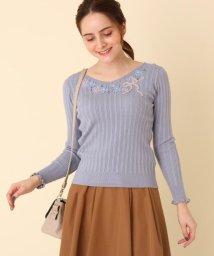 Couture Brooch/ブル-デイジ-刺繍リブニット/502704833