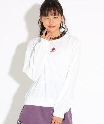 PINK-latte/チュールフリルスウェットトップス/502704849