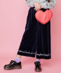 JENNI love/ベロアロゴ刺しゅうパンツ/502704962