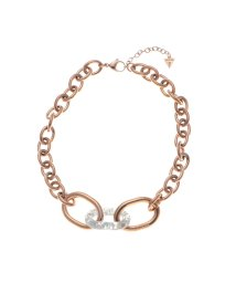 GUESS/ゲス GUESS CURVE X SMOKY RESIN LINK NECKLACE (ROSE GOLD) (ROSE GOLD)/502705086