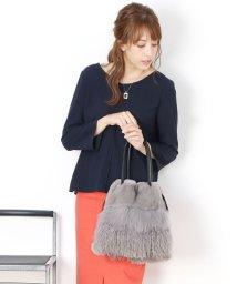 sankyoshokai/レッキスフォックスファーポンポン巾着バッグ/502705332