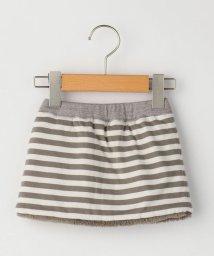 SHIPS KIDS/SHIPS KIDS:ボーダー×ボア リバーシブル スカート(80~90cm)/502705640