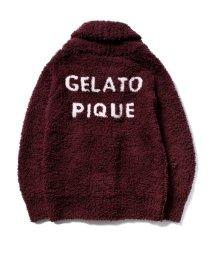 gelato pique/ロゴジャガードショールカーディガン/502705698