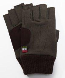 Orobianco(Glove)/指切りスタイルスエット生地ニットカフス付き手袋/502563281