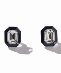 LANVIN en Bleu(JEWELRY)/セサンパ オクタゴンモチーフ ブラックカラーイヤリング/502669203