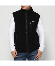 GUESS/ゲス GUESS BOA FLEECE ZIP UP VEST (BLACK)/502705920