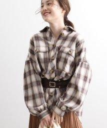 ViS/オーバーサイズチェックシャツ/502706789