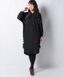axes femme/袖レースアップシャツワンピース/502691936