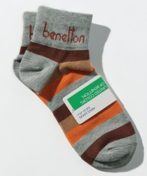 BENETTON (mens)/メンズマルチボーダー柄Sソックス・靴下/502696952