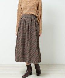 framesRayCassin/起毛チェックサイドボタンスカート/502707984