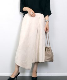 FUNNY COMPANY+/ボンディングフェイクラップスカート/502708128