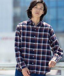 coen/ブロックチェックネルシャツ/502709584