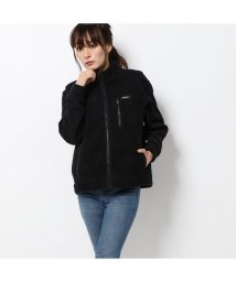 GUESS/ゲス GUESS BOA FLEECE ZIP UP VEST (BLACK)/502709634