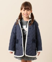 KUMIKYOKU KIDS/【WEB限定カラー有/150-170cm】ボア×キルトリバーシブル コート/502710230