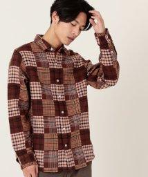 coen/パッチワークライクチェックシャツ/502710239
