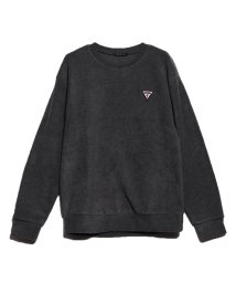 GUESS/ゲス GUESS SMALL TRIANGLE LOGO POLAR FLEECE SWEAT (CHARCOAL GREY)/502711890