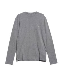 GUESS/ゲス GUESS L/S LOGO LABEL CORE SLIM-FIT TEE (STONE HEATHER GREY)/502711896